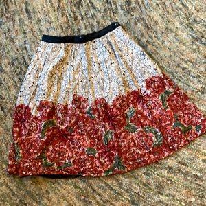 Anthro 100% cotton skirt 8
